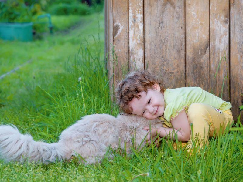Kuscheln! Kinder und Katzen sind einfach das perfekte Team — Bild: Shutterstock / Yuliya Evstratenko