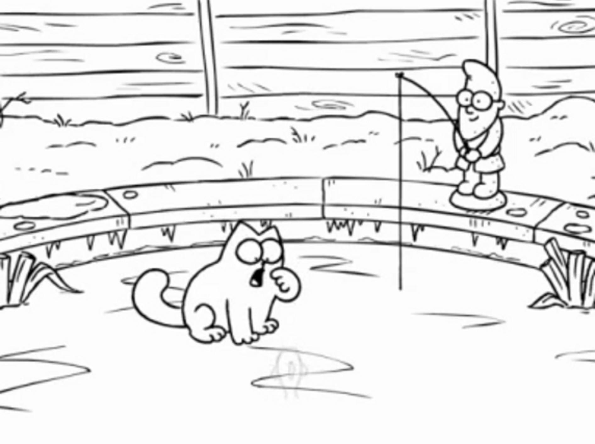 Simon's Cat: Der lustige Comic-Star versucht sich im Eisangeln