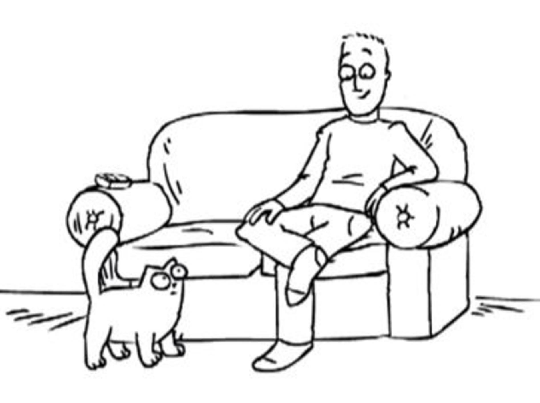 Lustiger Comicheld: Wer ist eigentlich Simon's Cat? — Bild: Youtube / simonscat