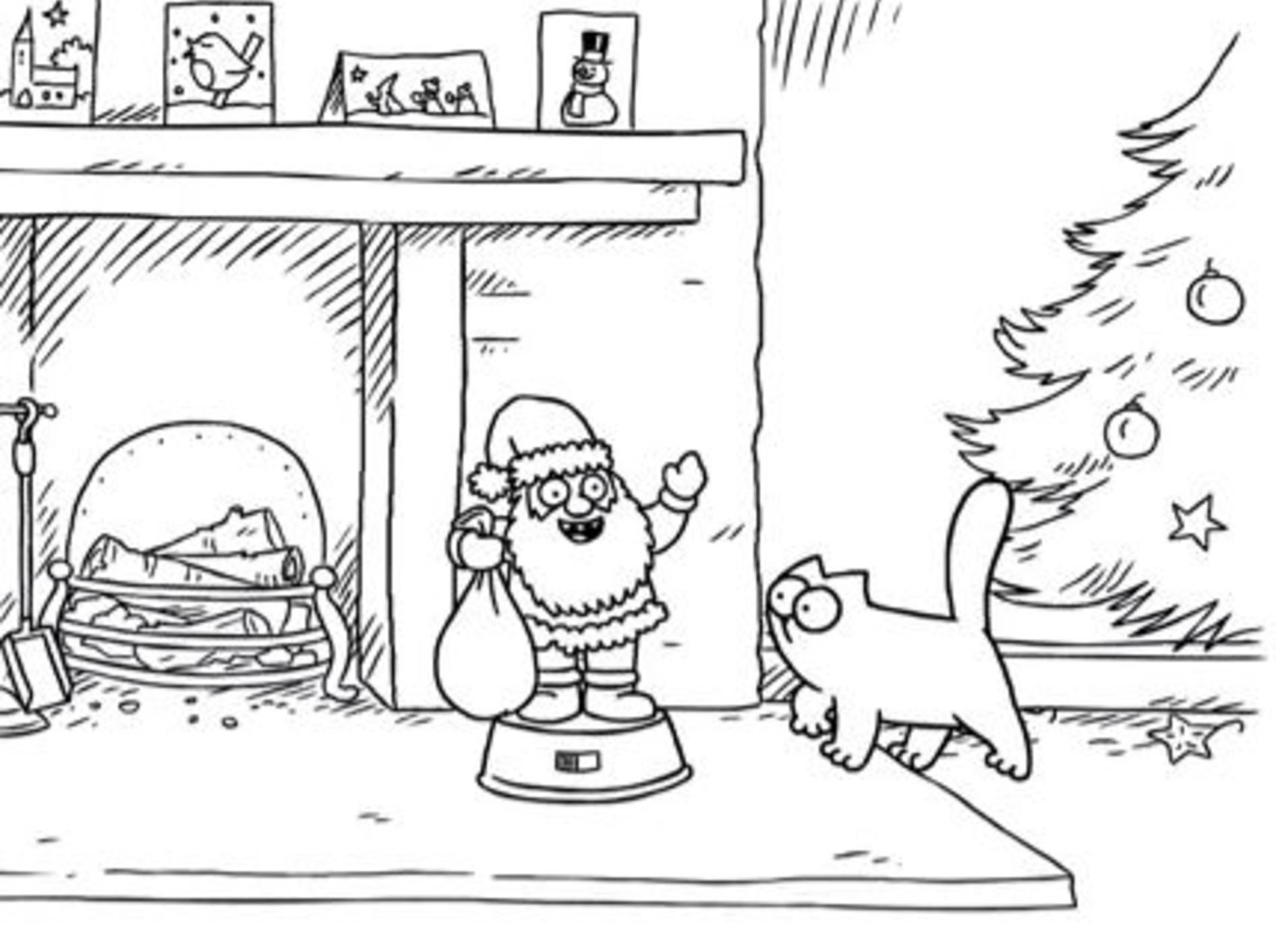 Simon's Cat bereitet sich auf Weihnachten vor – Bild: Youtube / simonscat
