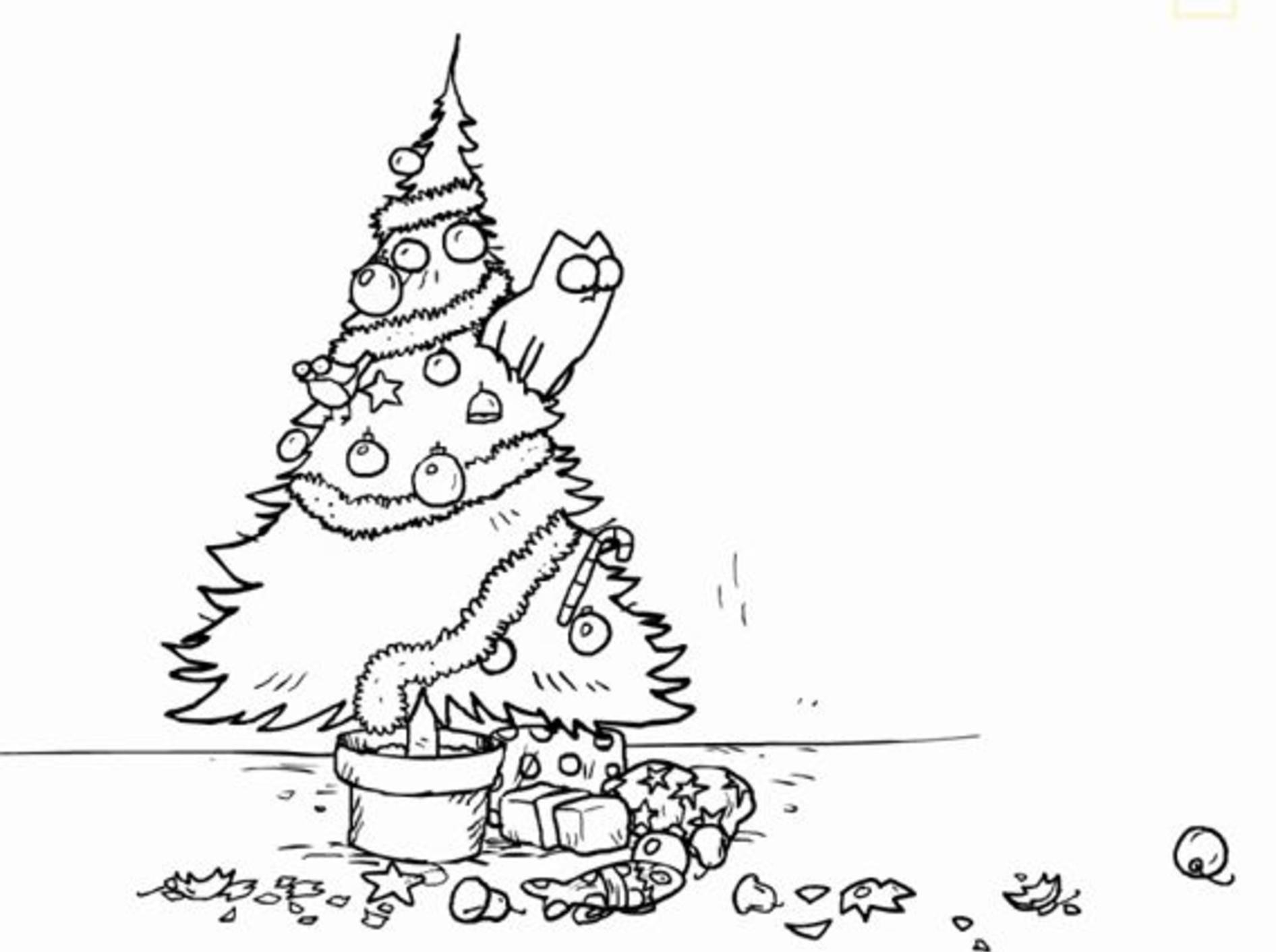 Simon's Cat zerstört Weihnachtsbaum – YouTube / Simon's Cat