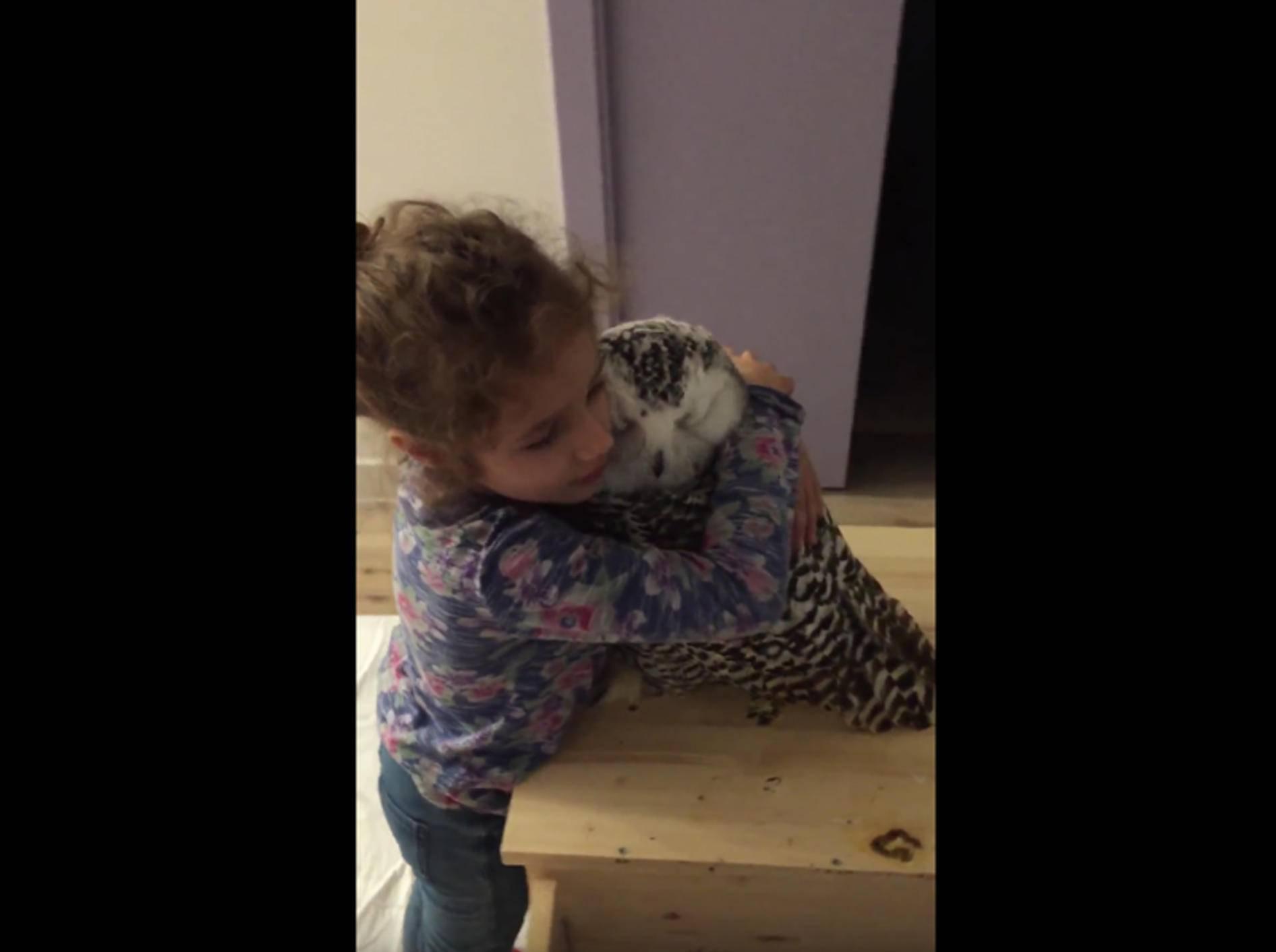 Kleines Mädchen kuschelt mit Schneeeule – YouTube / ciccipro2lavendetta