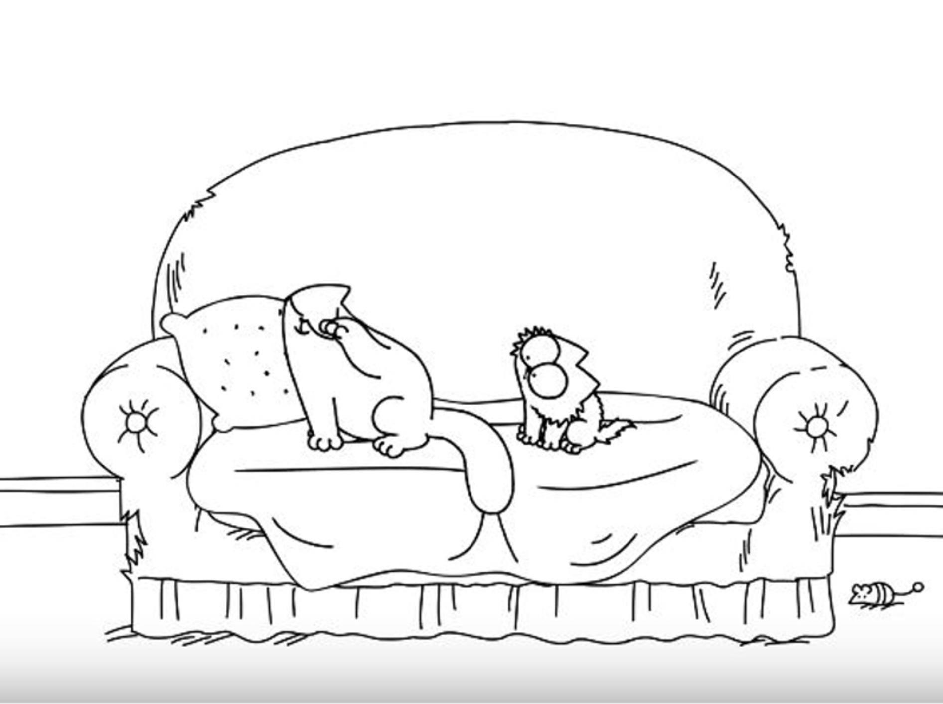 Klein eifert Groß nach und ein Kätzchen stellt alles auf den Kopf – YouTube / Simon's Cat